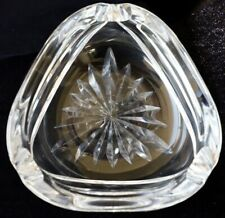 Stuart Triangular Cut Star Pattern Crystal Ashtray Bowl 1.1kg