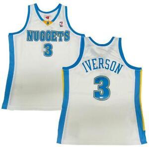 ALLEN IVERSON Autographed Denver Nuggets M&N 2006-07 Jersey FANATICS