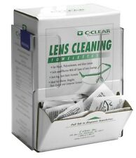 Rackems Lens Cleaning Towelette / Respirator Wipe - Box Holder, Clear Plastic