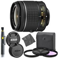 Nikon AF-P DX NIKKOR 18-55mm f/3.5-5.6G VR lens + UV + CP-L + FL-D Filters + Kit