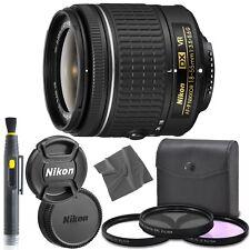 Nikon AF-P DX NIKKOR 18-55mm f/3.5-5.6G VR lens + UV + CP-L + FL-D Filters + Kit