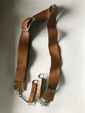 vintage Tooled leather camera neck strap, tan, light brown, nice