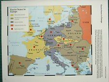 WW2 WWII MAP ~ FASCIST STATES EUROPE RIGHT-WING ACTIVITY REPRESSIVE CONSERVATIVE