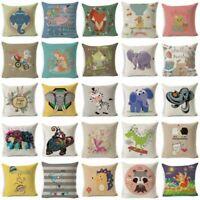 "18""*18"" Cute Animal Pillow Cover Throw Pillow Case Sofa Cushion Cover Home Decor"
