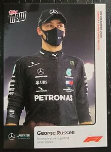 GEORGE RUSSELL Mercedes 1st Career Points #19 2020 Formula 1 F1 Topps Now ROOKIE