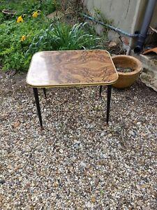 Vintage, Retro Coffee Table With Dansette, Sputnik Legs.