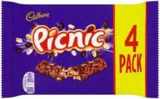 Cadbury Picnic (4 x 38g Tavolette Di Cioccolato) 152g