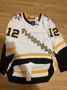 Adidas Aston-Reese Pittsburgh Penguins Reverse Retro NHL Hockey Jersey White 52