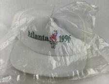 Vintage 1996 Atlanta Olympics Snapback Hat Cap White Sports Illustrated NEW NOS