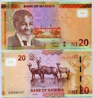 Namibia 20 Dollars 2018 P New UNC