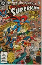 The Adventures of Superman # 489 Panic in the Sky Epilogue - 1992 - NM