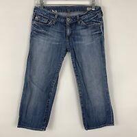 Big Star Jeans Women's Size 27 Sweet Crop Capri Mid Rise Medium Wash