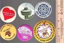 Collector buttons - Lot of 6 Niagara Falls