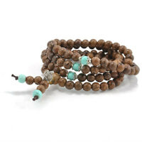 Fashion Sandalwood Buddhist Buddha Meditation Prayer Bead Mala Bracelet Necklace
