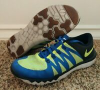 Nike Blue Green Free trainer 5.0 V6 Athletic shoes Sneakers Men's Size 10