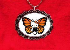 HELLO KITTY BUTTERFLY ORANGE CAT KAWAII PENDANT NECKLACE