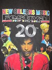PRINCE CONCERT T SHIRT New Orleans Music Festival Doug E Fresh Erykah Badu L