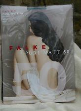 Falke Pure Matt 50 Semi Opaque Tights Size O Small Colour Meadow NEW