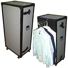 SMALL COMPACT TUFFBOX WARDROBE CASE TRUNK w/Pullout Hanging Bar
