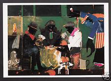 Romare Bearden : Card Players (1982) ART ARTWORK MODERN POSTCARD