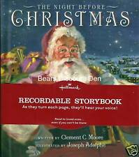 Hallmark ~ THE NIGHT BEFORE CHRISTMAS ~ recordable book - NEW