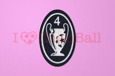 UEFA Champions League 4 Times Trophy (dark blue) Sleeve Soccer Patch / Badge