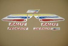 Peugeot 106 Rallye full decals stickers graphics set kit aufkleber autocollants