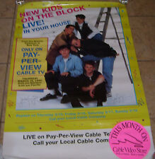 Rare Vintage New Kids On The Block Pay Per View Nkotb Ppv Poster Free S/H