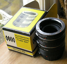 Olympus OM (om10) fit Auto extension Tubes ,made in  japan badged aico