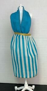 Vintage ©1978 Mattel Barbie BEST BUY FASHION #1353 - Aqua Halter Top Sundress