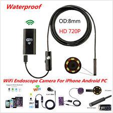 5M 6LED HD 720P Waterproof WiFI Borescope Inspection Endoscope Snake Tube Camera