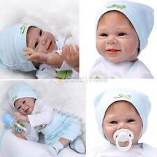 22''Handmade Lifelike Baby Reborn Boy Girl DollsSolid Silicone Vinyl Doll Gift