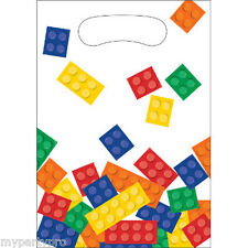 Lego inspired, Building Blocks TREAT BAG Birthday party supplies free ship