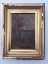 """Original Art Painting Fall Autumn  Size 12.5""""x 16"""" with Frame"""