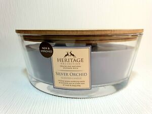 New collection 2 wood wick candle crackle when burn , Orchid, rose, musk, ylang