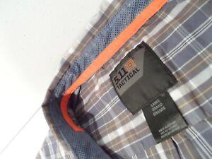 5.11 Tactical Men's Covert Flex Long Sleeve Shirt Sz Large Snap Button Top 72428