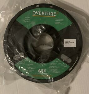 BRAND NEW - 1KG OVERTURE GRAY ABS 3D PRINTER FILAMENT 1.75 - FREE SHIPPING