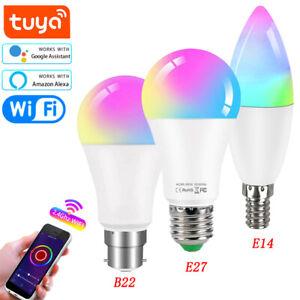 10W B22 E27 E14 Tuya Wifi RGB Smart LED Light Bulb CW+WW Dimmable Lamp
