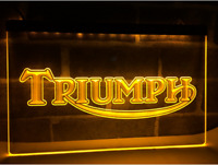 Triumph Motorcycles Neon Sign Bar Pub Man Cave Advertising Etc New