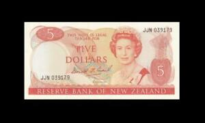 "1989-92 NEW ZEALAND $5 ""Sig. Brash"" (( GEM UNC ))"