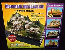 Scene-A-Rama Mountain Diorama Kit Volcano Rocks Cliffs School Projects Displays