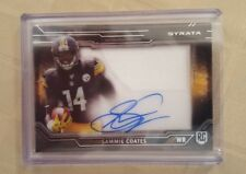 2015 Topps Strata Clear Cut Auto Relic Rookie Patch Card SAMMIE COATES