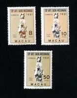 Macau Stamps # 368-70 VF OG LH Set of 3 Scott Value $40.00