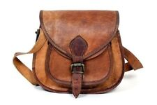 Bag Women Vintage Genuine Brown Leather CrossBody Shoulder Bag Handmade Purse