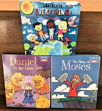 Lot 3 Bible Story POP-UP Baby Toddler Board Books Moses, Daniel, God Created,,,