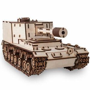 Eco Wood Art - SAU 212 Tank Mechanical Wooden Model Kit No Glue Required Ugears