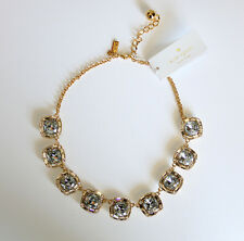 KATE SPADE ON THE TOWN SHORT NECKLACE wbru5109  wedding clear crystal shiny gold