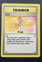 Trainer Lass 75/102 1999 Pokemon Card Base Set Rare - LP