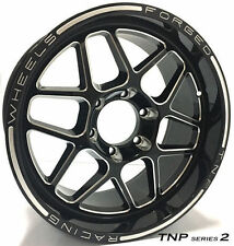 18 INCH 6 STUD TNP 2 BLACK MILLED OFF ROAD STYLE WHEELS & TYRES FORD RANGER