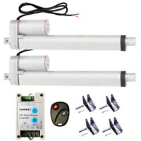 "2 Linear Actuators 12"" Stroke 1500N 330lbs DC 12V Motor &Wireless Control Kits"